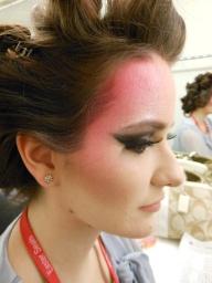 Day of show makeup for Lauren